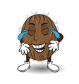 laughing coconut with tears vector image