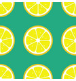 lemon slices seamless pattern flat food texture vector image vector image