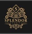 letter s logo - classic luxurious style logo vector image