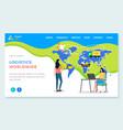 logistics worldwide international business vector image