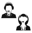 Man and woman from technical support vector image