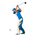 men cartoon playing golf vector image vector image