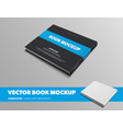 mockup black book with horizontal blue insert vector image