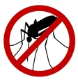 no mosquito vector image