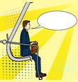 pop art background businessman on the career vector image