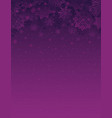 purple christmas background with snowflakes vector image vector image