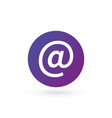 purple e-mail internet icon button isolated on vector image vector image