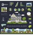 Real estate infographics design with house vector image vector image