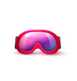 realistic scuba diving mask goggles vector image