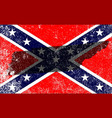 rebel civil war flag with tennessee map vector image vector image