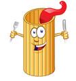 rigatone pasta cute comic character clip vector image vector image