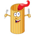 rigatone pasta cute comic character clip vector vector image vector image