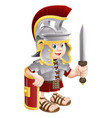 roman soldier with sword vector image vector image