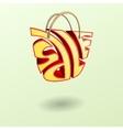 Sale bag silhouette vector image