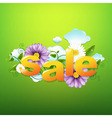 Sale Poster With Green Background vector image vector image