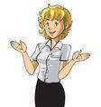 salesgirl vector image