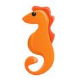 sea horse icon cartoon style vector image