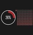 set circle percentage diagrams meters from 0 vector image