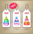 Set of art cake or dessert banners vector image vector image