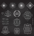 Set of chalk linear design elements vector image
