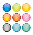 set of network sphere icons vector image vector image