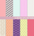 Set of Vintage Graphic Pattern vector image vector image