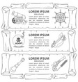 set outline of banners imitating ancient papyrus vector image vector image