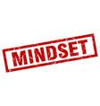 square grunge red mindset stamp vector image vector image