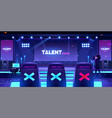 talent show stage with jury chairs empty scene vector image