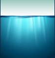underwater ocean surface blue water background vector image vector image