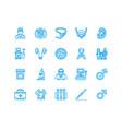 urology flat line icons urologist bladder vector image