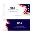usa independence day template design vector image vector image