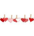 valentines day concept with hearts and clothes vector image