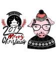 we wish merry christmas 2019 greeting invitation vector image