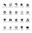 cloud computing glyph icons set 2 vector image