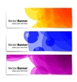 Banners headers colorful abstract set vector image