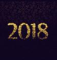 2018 glitter sparkle lettering design