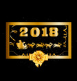 2018 happy new year and christmas background with vector image vector image