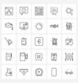25 universal icons pixel perfect symbols table