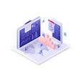 28isometric connect business vector image vector image