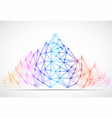 abstract mountain of lines and dots polygonal vector image