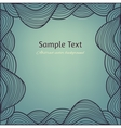 Abstract vintage background with hand drawn lacy vector image