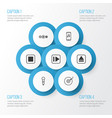 audio icons set collection of extract device vector image vector image