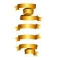 Beautiful Gold Ribbon Label Set vector image vector image