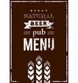 beer menu for pub vector image vector image