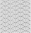 Black and white waves seamless pattern vector image vector image