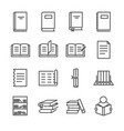 books line icon set vector image vector image