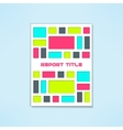 brochure template in modern bright design vector image vector image