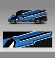 cargo van wrap graphic abstract stripe designs vector image vector image