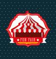 carnival fun fair vector image vector image